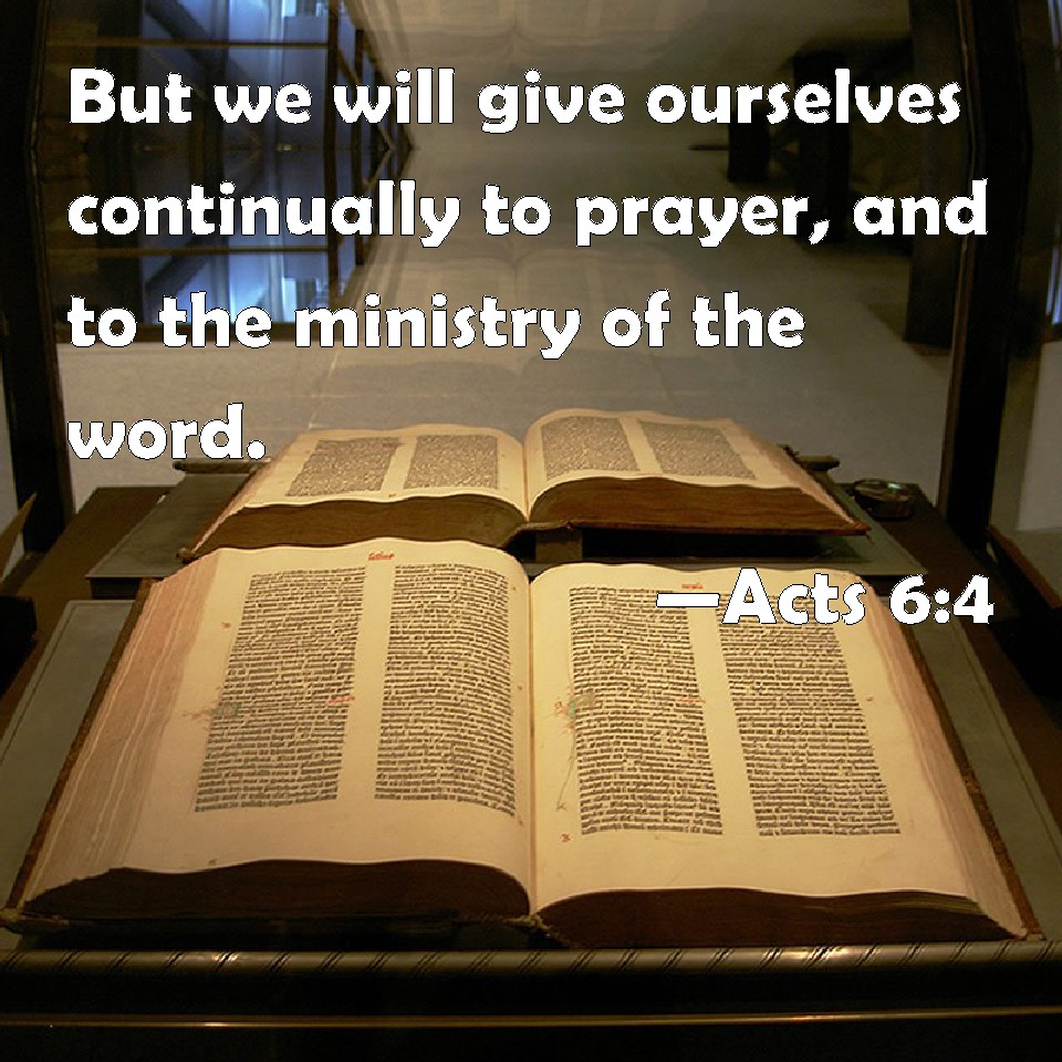 prayer and ministry